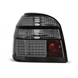 VW Golf 3 Black LED Smoked Dymione Diodowe LDVW49