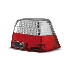 VW Golf 4 clear RED / WHITE LED czerwono białe diodowe LDVW31 DEPO