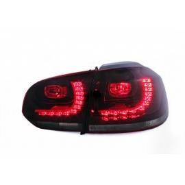 VW Golf 6 SMOKED RED LED dymione czerwone  diodowe GTI-Look  LDVW71 DEPO