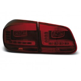 VW Tiguan II - SMOKED RED LED -  diodowe LDVWD3