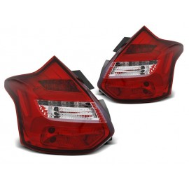 Ford Focus 3 11-14 red / white LED - diodowe dynamiczne LDFO56