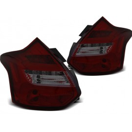 Ford Focus 3 11-14 smoked red LED - diodowe dynamiczne LDFO57