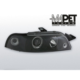 Fiat Punto I  clear Angel Eyes BLACK soczewka ringi LPFI09