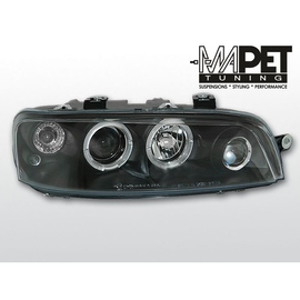 Fiat Punto II  clear Angel Eyes BLACK soczewka ringi LPFI02