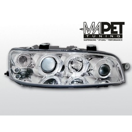 Fiat Punto II clear Angel Eyes CHROM soczewka ringi LPFI01