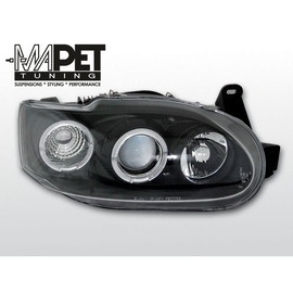 Ford Escort clear Angel Eyes BLACK soczewka ringi LPFO06
