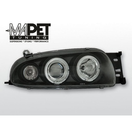 Ford Fiesta 95-99 clear Angel Eyes BLACK soczewka ringi LPFO15