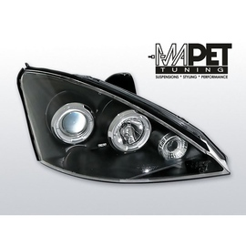 Ford Focus I 98-01 Angel Eyes BLACK soczewki ringi LPFO10