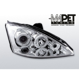 Ford Focus I 98-01 Angel Eyes CHROM soczewki ringi LPFO03