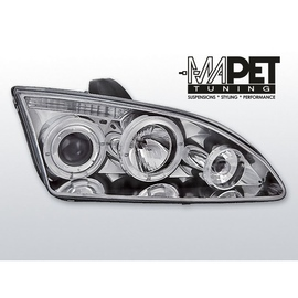 Ford Focus II clear Angel Eyes CHROM soczewki ringi LPFO13