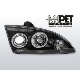 Ford Focus II clear Angel Eyes BLACK soczewki ringi LPFO14