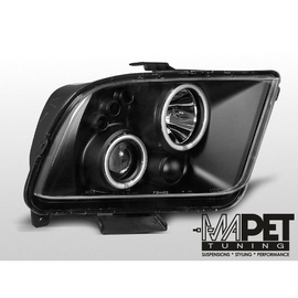 Ford Mustang 05-09 clear Angel Eyes BLACK soczewka ringi LPFO31