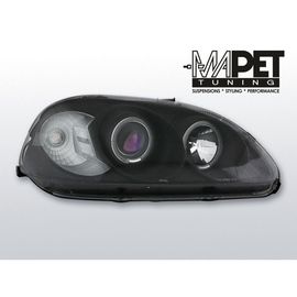 Honda Civic 95-99 clear Angel Eyes BLACK soczewka ringi LPHO05