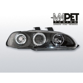 Honda Civic 91-95 clear Angel Eyes BLACK soczewka ringi LPHO12