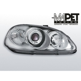 Honda Civic 95-99 clear Angel Eyes CHROM soczewka ringi LPHO04