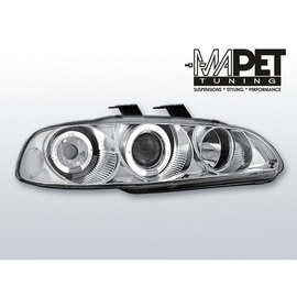 Honda Civic 91-95 clear Angel Eyes CHROM soczewka ringi LPHO01