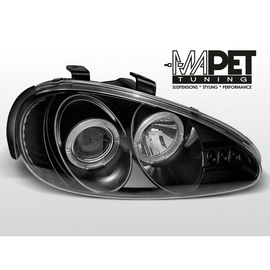 Mazda MX3 91-98 clear Angel Eyes BLACK soczewka ringi LPMA02