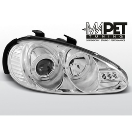 Mazda MX3 91-98 clear Angel Eyes CHROM soczewka ringi LPMA01