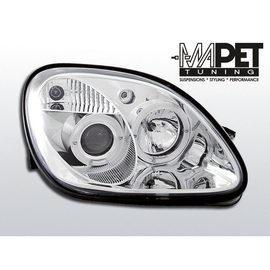 Mercedes SLK 96-00 Angel Eyes CHROM soczewki ringi LPME14
