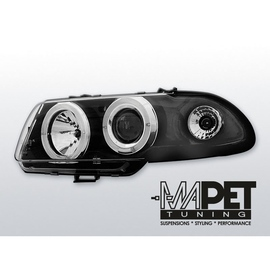 Opel Astra F 91-94 clear Angel Eyes BLACK soczewka LPOP02