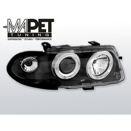Opel Astra F 94-97 clear Angel Eyes BLACK soczewka LPOP04