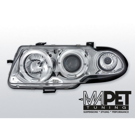 Opel Astra F 91-94 clear Angel Eyes CHROM soczewka LPOP01