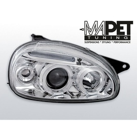 Opel Corsa B clear Angel Eyes CHROM soczewka ringi LPOP26