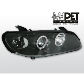 Opel Omega B clear Angel Eyes BLACK soczewka ringi LPOP36