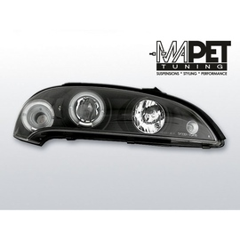Opel Tigra 94-00 clear Angel Eyes BLACK soczewka ringi LPOP10