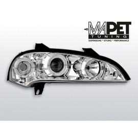 Opel Tigra 94-00 clear Angel Eyes CHROM soczewka ringi LPOP11