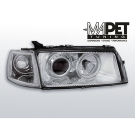 Opel Vectra A clear Angel Eyes CHROM soczewka ringi LPOP09 FK