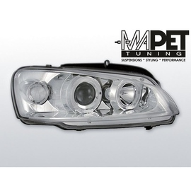 Peugeot 106 clear Angel Eyes CHROM soczewka ringi LPPE01