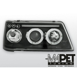 Peugeot 205 clear Angel Eyes BLACK soczewka ringi LPPE14