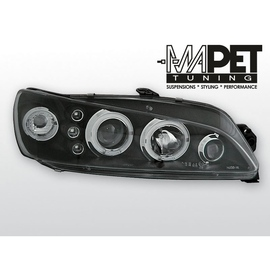 Peugeot 306 97-01 clear Angel Eyes BLACK soczewka ringi LPPE17