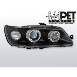 Peugeot 306 93-97 clear Angel Eyes BLACK soczewka ringi LPPE11