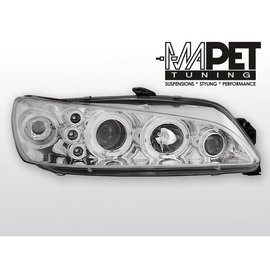 Peugeot 306 97-01 clear Angel Eyes CHROM soczewka ringi LPPE16