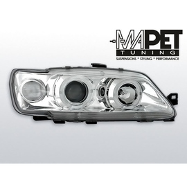 Peugeot 306 93-97 clear Angel Eyes CHROM soczewka ringi LPPE08