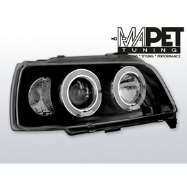 Renault Clio 90-95 clear Angel Eyes BLACK soczewka ringi LPRE02