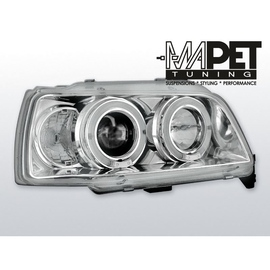 Renault Clio 90-95 clear Angel Eyes CHROM soczewka ringi LPRE01
