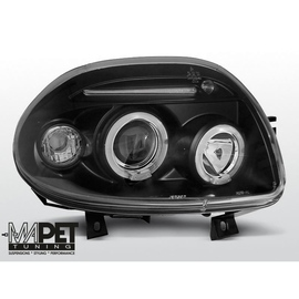 Renault Clio 98-01 clear Angel Eyes BLACK soczewka ringi LPRE22