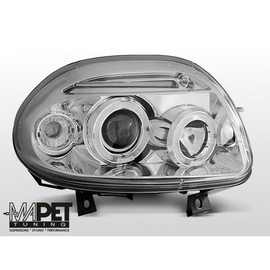 Renault Clio 98-01 clear Angel Eyes CHROM soczewka ringi LPRE21