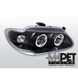 Renault Megane 96-99 clear Angel Eyes BLACK ringi LPRE06
