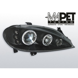 Renault Megane  99-02 clear Angel Eyes BLACK ringi LPRE10
