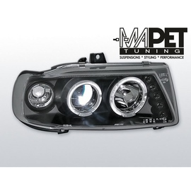 Seat Ibiza 93-99 clear Angel Eyes BLACK soczewka ringi LPSE04