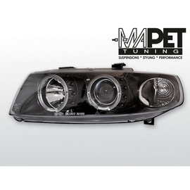 Seat Leon 1M 99-04 clear Angel Eyes BLACK soczewka ringi LPSE02