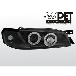 Subaru Impreza 93-00- clear Angel Eyes BLACK ringi LPSU02