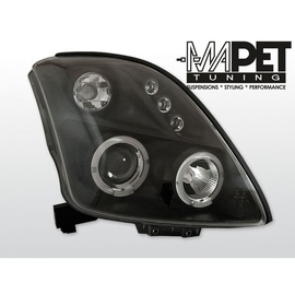 Suzuki Swift  05- clear Angel Eyes BLACK soczewka ringi LPSI02