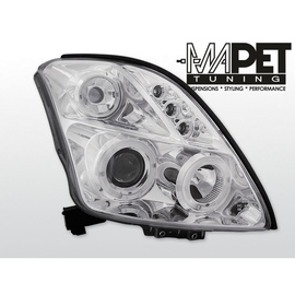 Suzuki Swift  05- clear Angel Eyes CHROM soczewka ringi LPSI01