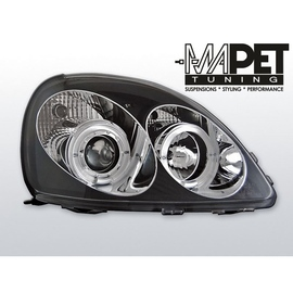 Toyota Yaris 99-03 clear Angel Eyes BLACK soczewka ringi LPTO02