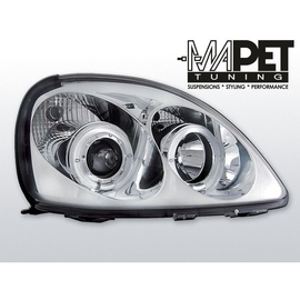 Toyota Yaris 99-03 clear Angel Eyes CHROM soczewka ringi LPTO01